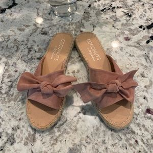 Coconuts by Matisse pink bow sandals